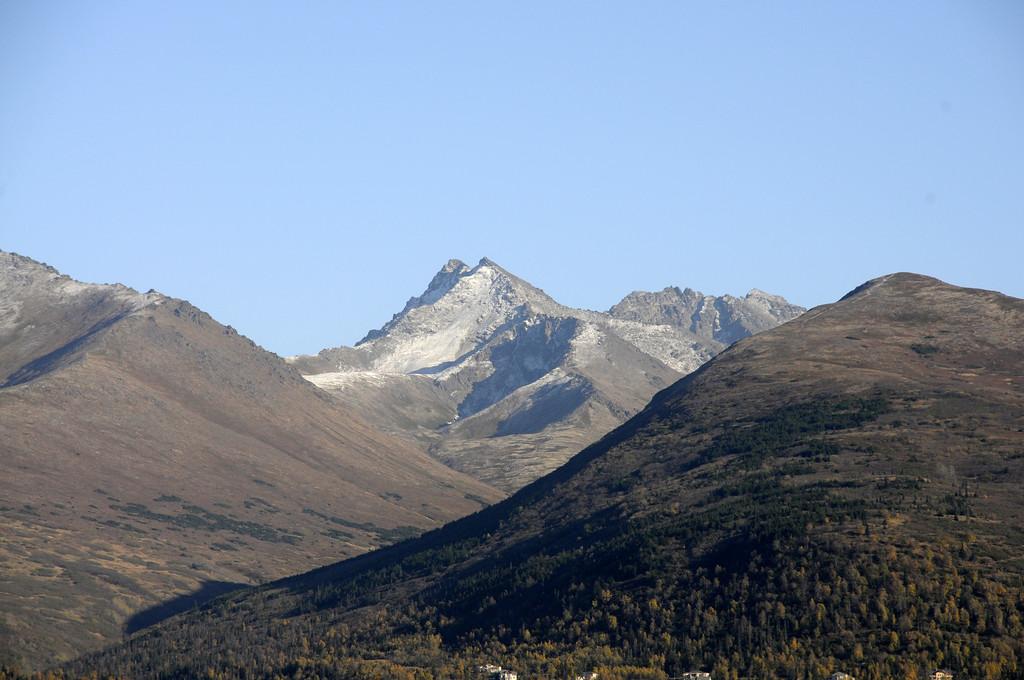 Termination Dust on the Mountains - 09/27/2010 - Chugach Mountains - Anchorage - Alaska - USA