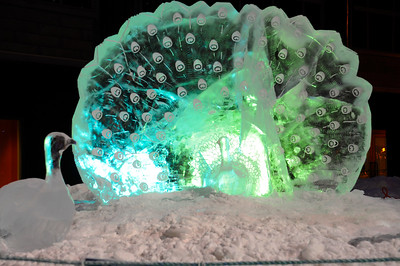 Crystal Gallery of Ice - Downtown - Alaska Winter - Anchorage - Alaska - USA