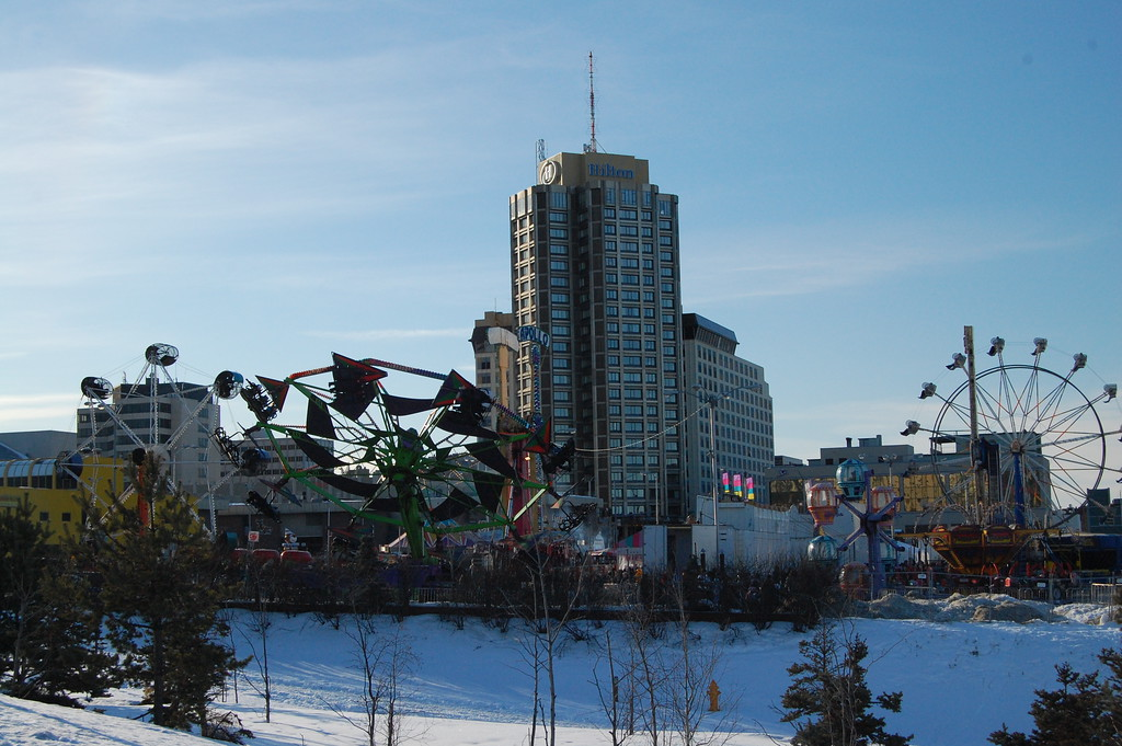 Carnival - Winter - Downtown Anchorage City Scape - Building - Architecture -  Anchorage - Alaska - USA