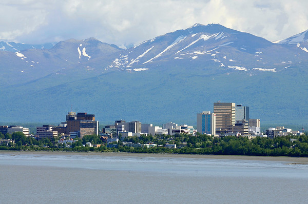 Downtown Skyline - Anchorage - Alaska - USA