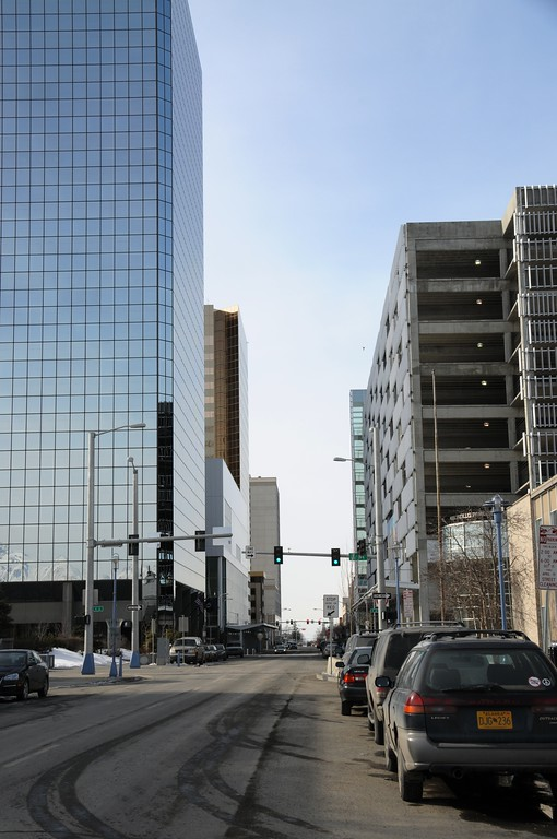 Eighth Avenue - Downtown Anchorage - Building - Architecture -  Anchorage - Alaska - USA