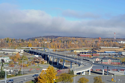 A Street Bridge - Downtown - Anchorage - Alaska - USA