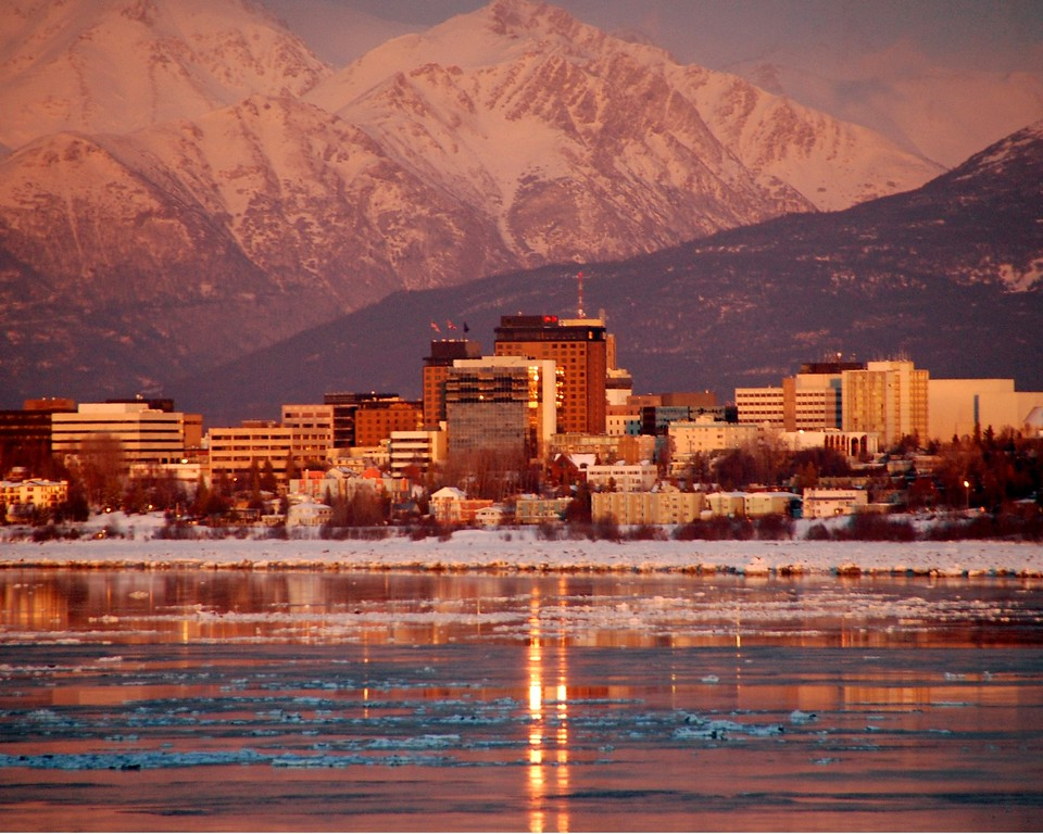 Downtown Anchorage City Scape - Building - Architecture -  Anchorage - Alaska - USA