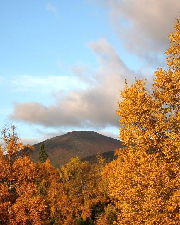 Autumn Photos - Chugach Mountains - Anchorage - Alaska - USA