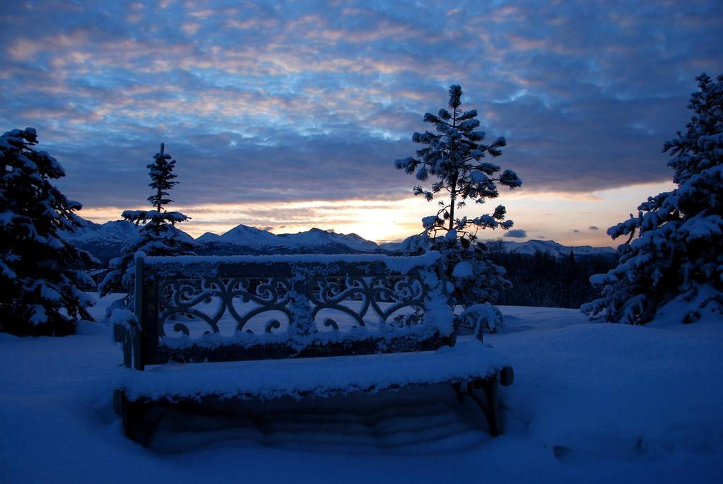 Sunrise - Bench - Anchorage - Alaska