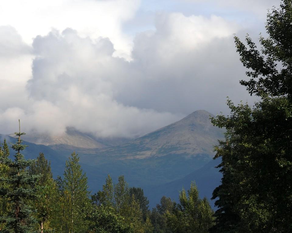 Sunny Skies - Puffy Clouds - Rainbow - Chugach Mountains - Anchorage - Alaska - USA