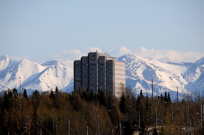 British Petroleum (BP) Building - Spring - Building - Architecture -  Anchorage - Alaska - USA