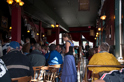 In the Red Onion Saloon, you feel like you are back in an old west saloon.