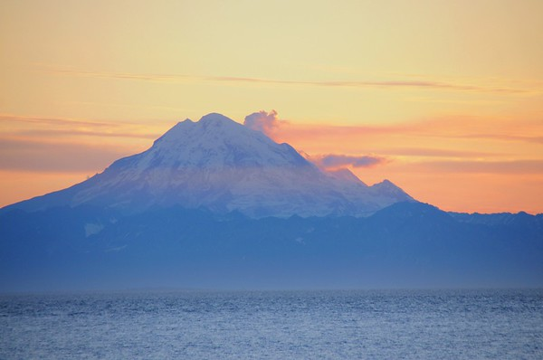 Sunset - Mount Redoubt - Kenai Peninsula - Alaska - USA