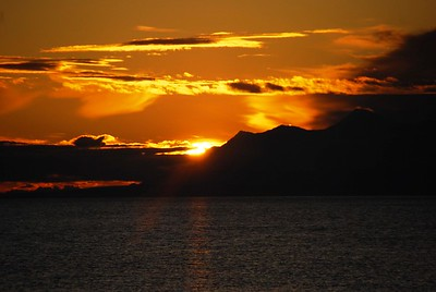 Sunset - Orange - Anchorage - Alaska  - USA