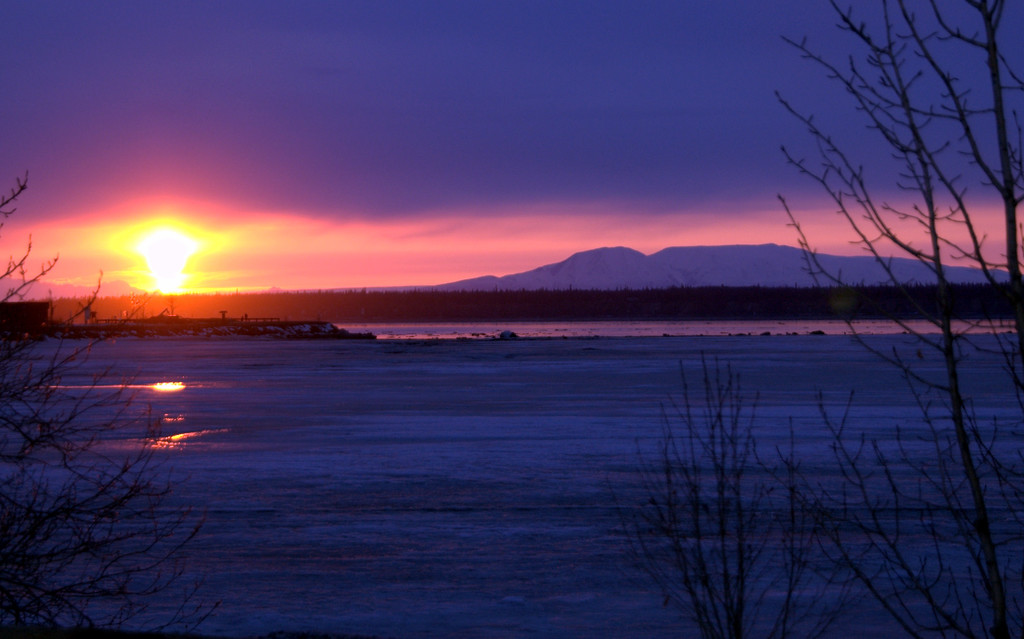 Sunset - Pink - Sleeping Lady Mountain - Anchorage - Alaska  - USA