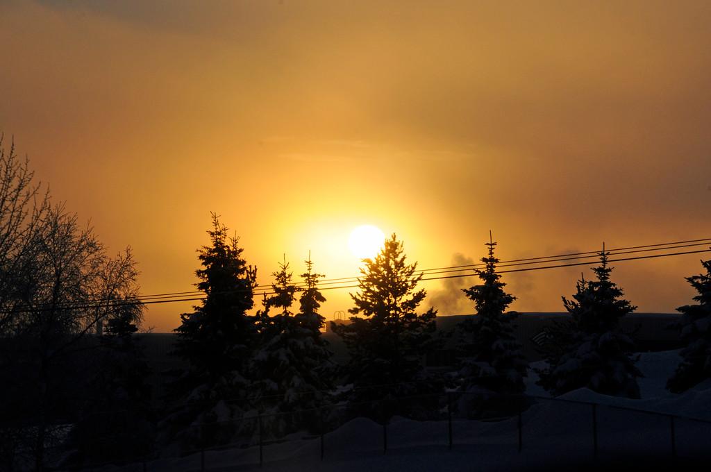Foggy Sunset - Anchorage - Alaska - USA