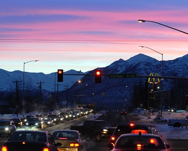 Sunrise - Boniface Parkway - Anchorage - Alaska - USA