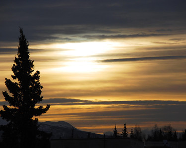 Sunset - Golden - Anchorage - Alaska  - USA