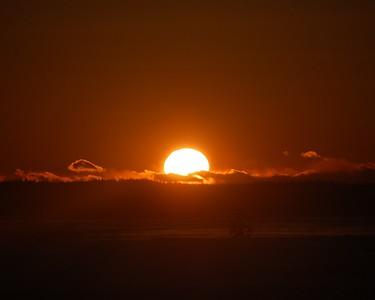 Sunset - Orange - Anchorage - Alaska  - USA