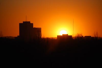 Sunset - Orange - Buildings - Anchorage - Alaska  - USA