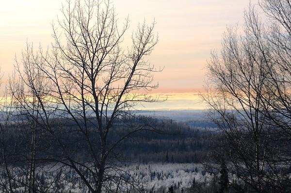 Sunset - Hoarfrost - Alaska Winters - Anchorage - Alaska - USA