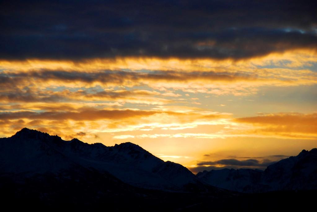 Sunrise - Golden - Anchorage - Alaska  - USA