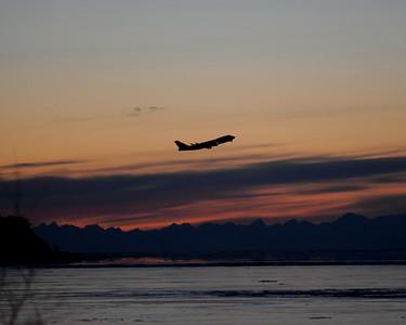 Sunset  - Downtown - Anchorage - Alaska - USA