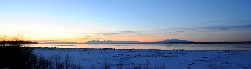 Sunset  - Downtown - Anchorage - Alaska - USA
