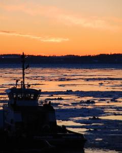 Sunset - Tug Boat - Port of Anchorage - Anchorage - Alaska  - USA