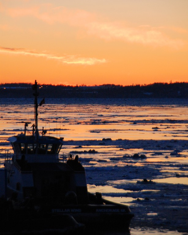 Sunset - Tug Boat - Port of Anchorage - Anchorage - Alaska  - USA