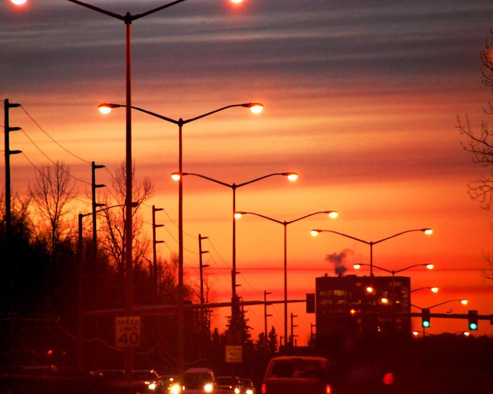 Sunset - Red - Anchorage - Alaska  - USA