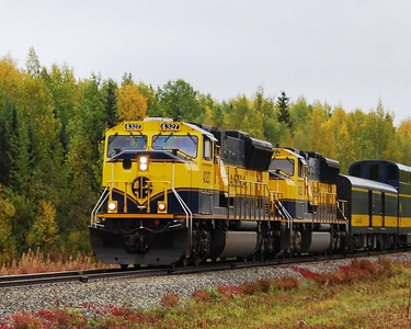 Train - Alaska Railroad - Transportation - Alaska - USA