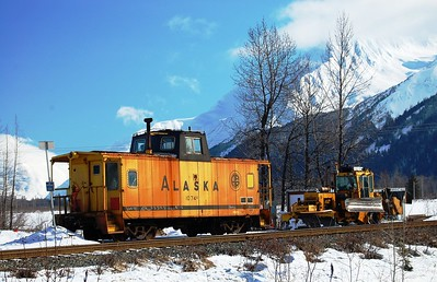 Train - Alaska Railroad - Transportation - Portage - Alaska - USA