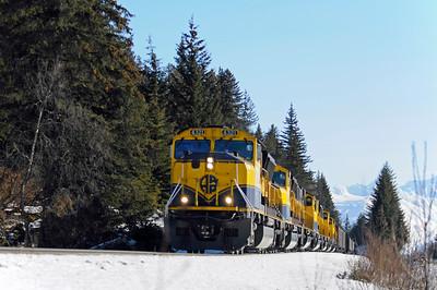 Alaska Railroad - Turnagain Arm - Alaska - USA
