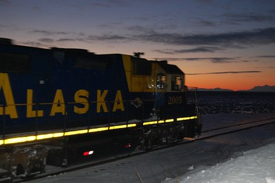 Train - Alaska Railroad - Transportation - Turnagain Arm - Alaska - USA