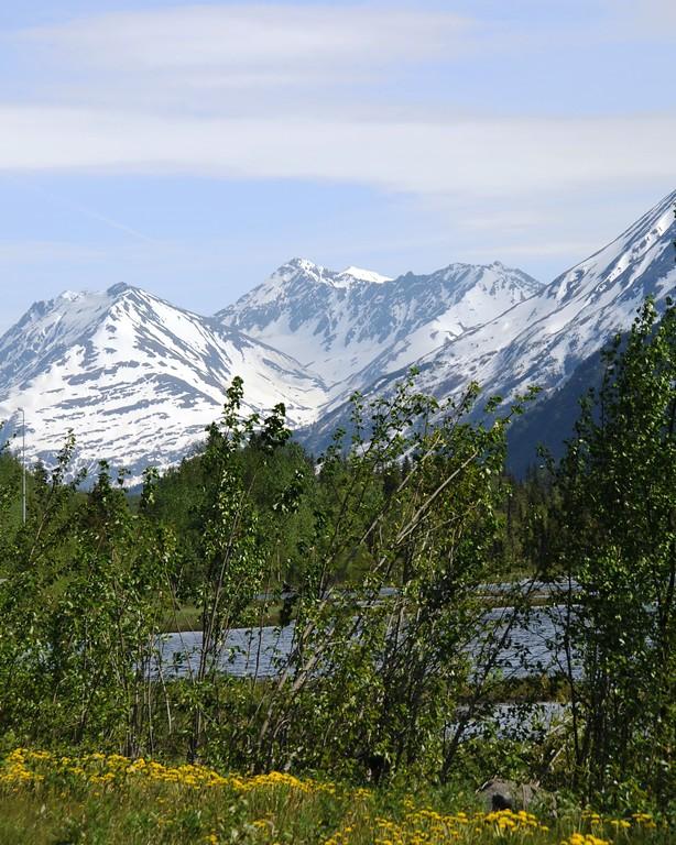 Mountains - Sterling Highway - Cooper Landing - Kenai Peninsula - Alaska - USA