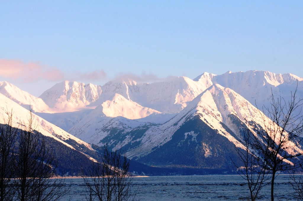 Snow and Sunshine - Turnagain Arm - Alaska - USA