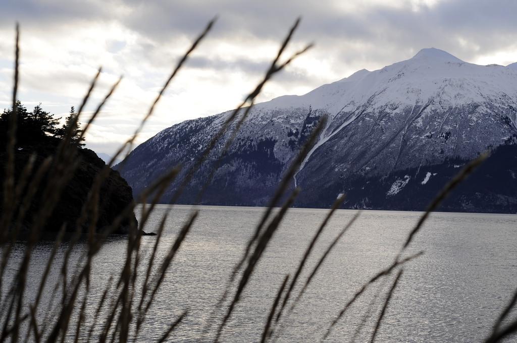 Snowy Mountain top - Turnagain Arm - Alaska - USA