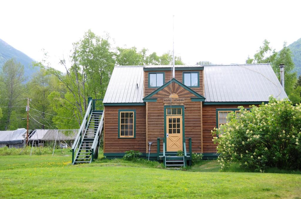 Hope - Downtown - Old Hope School and Hope Library - Hope - Alaska - USA