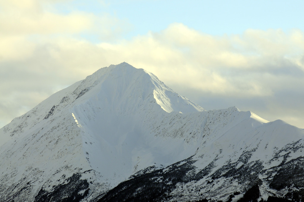Snowy Mountain top - Turnagain Arm - Alaska - USA