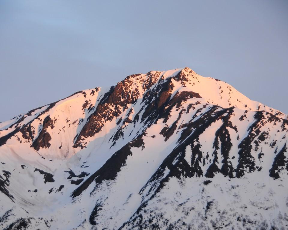 Mountain Top - Sunset - Turnagain Arm - Alaska  - USA