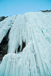 Frozen Waterfall - Scenic Alaska - Winter - Ice -Turnagain Arm - Alaska - USA