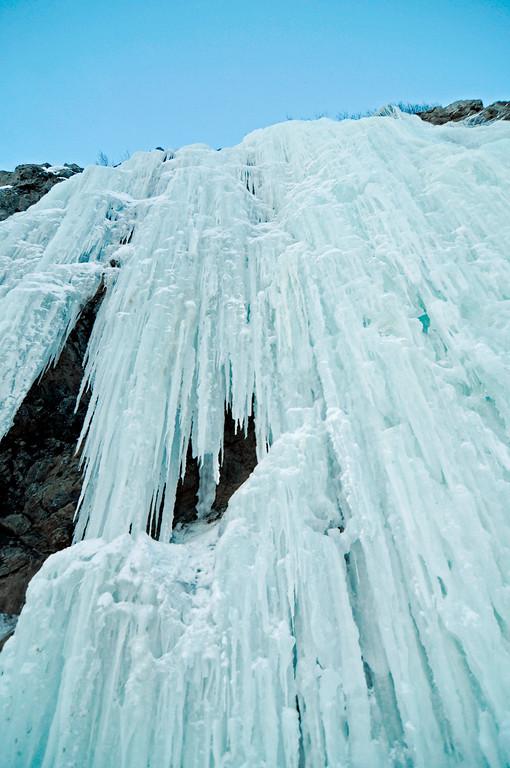 Frozen Waterfall - Scenic Alaska - Winter - Ice -Turnagain Arm - Alaska - USA