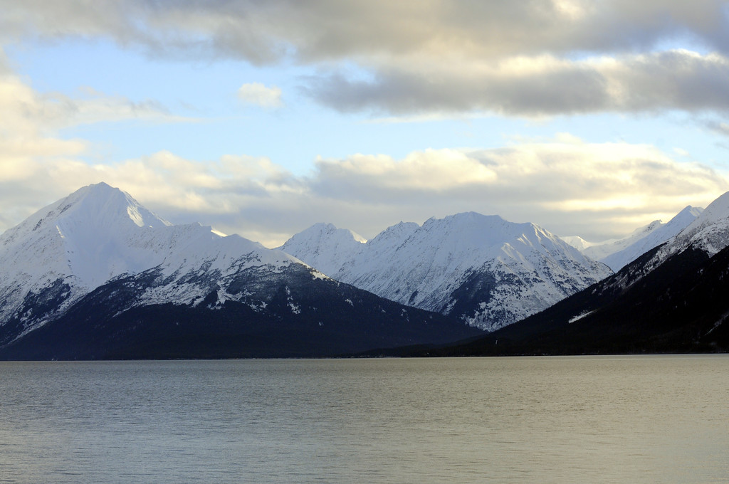 Snowy Mountain tops - Turnagain Arm - Alaska - USA