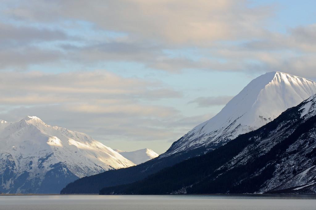 Snowy Mountain tops - Turnagain Arm - Alaska - USA