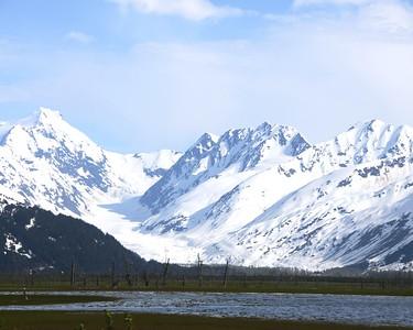 Mountains - Seward Highway - near Portage - Alaska - USA