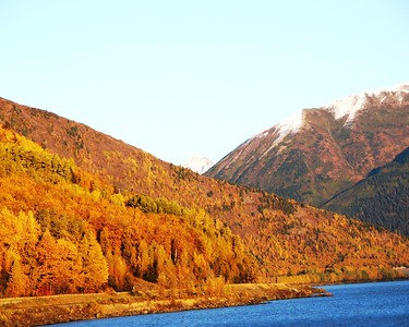 Autumn Photos - Sunset - Fall Colors - Turnagain Arm - Alaska - USA