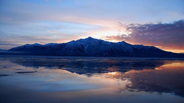Mountain at Sunset - Turnagain Arm - Alaska - USA