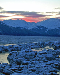 Alaska Travel Photography - Turnagain Arm at sunset
