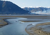 Bird Creek emptying into Turnagain Arm at Low tide. Hope Ak on North shore.