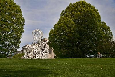 A very unique sculpture in a Vancouver park.