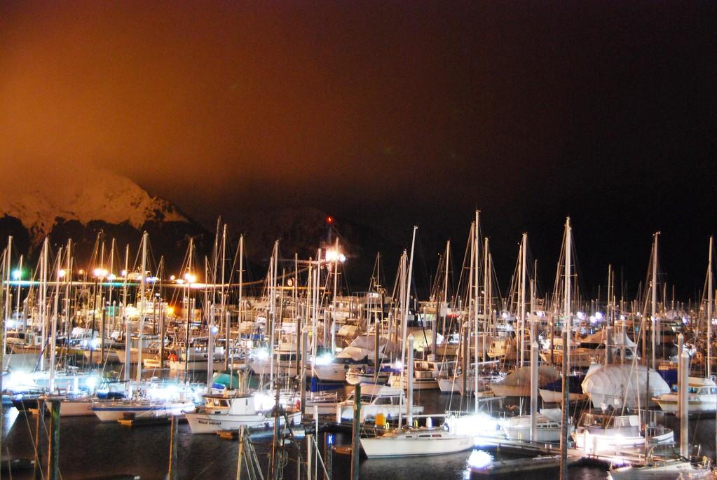 Boats - Boat Harbor - Transportation - Night - Seward - Alaska - USA