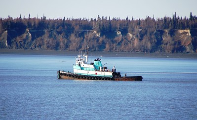 Boat - Tug Boat - Transportation - Port of Anchorage - Anchorage - Alaska - USA