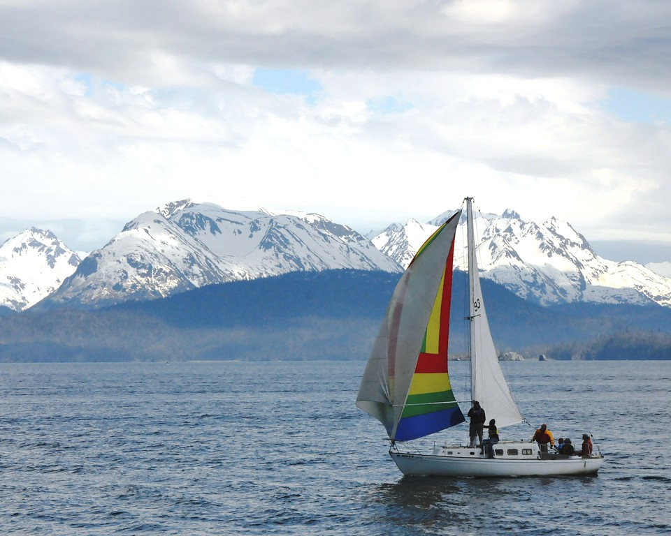 Sailboat - Transportation - Homer Spit - Homer - Kenai Peninsula - Alaska - USA
